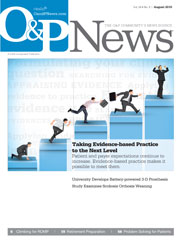 O&P News, August 2015 cover