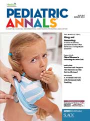 Pediatric Annals August 2014 cover